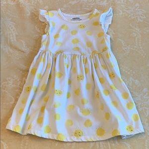 Summer Dress Sunshine Ruffled Sleeves Girls 4T